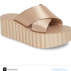 NEW NB Tory Burch Scalloped Platform Wedge Sandals
